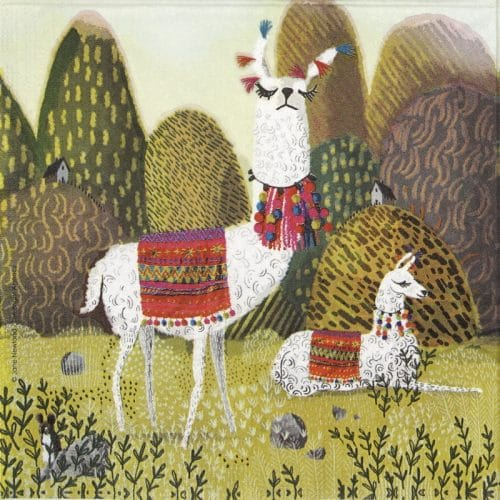 Lunch Napkins (20)- Jane Newland: Evita