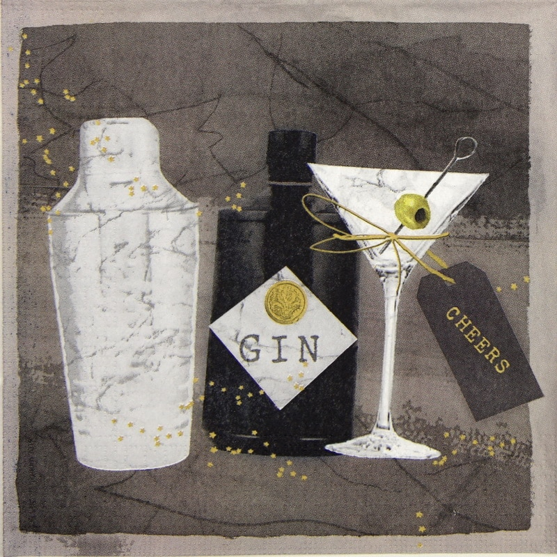 Lunch Napkins (20) - Carson Higham: Gin and Martini