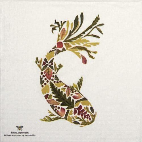 Paper Napkin - Helen Ahpornsiri: Green Koi