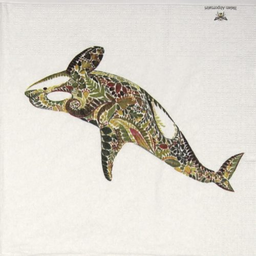 Lunch Napkins (20) - Helen Ahpornsiri: Green Orca