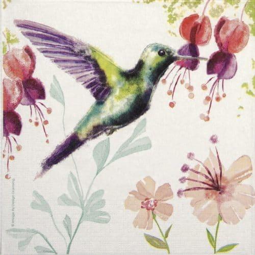 Paper Napkin - Hummingbird