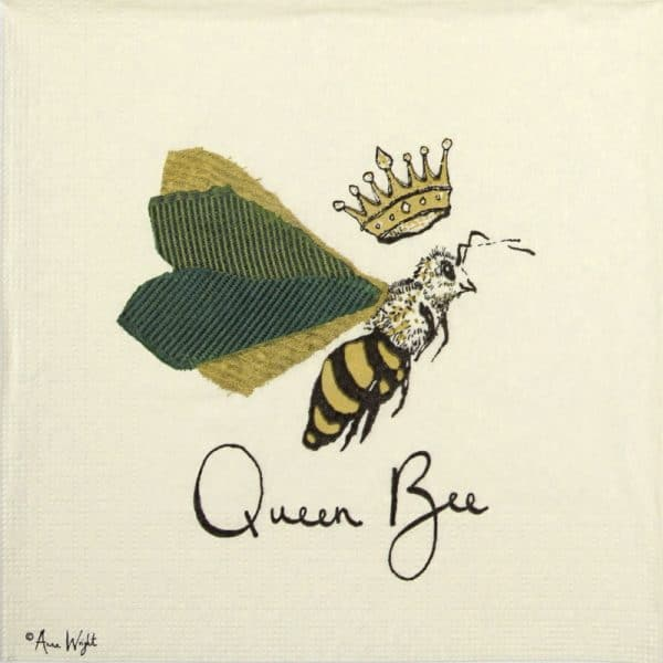 Lunch Napkins (20) - Anna Wright: Queen Bee