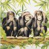 Cocktail Napkins (20) - Carola Pabst: Three Apes