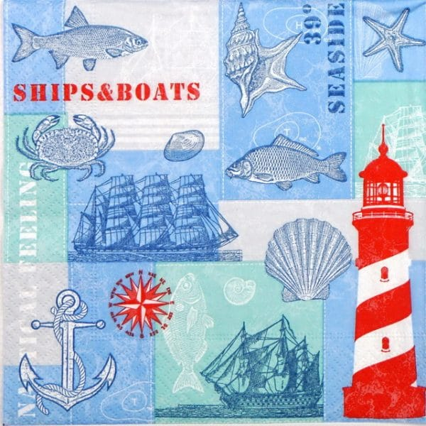 Paper Napkin - Nautical Feeling