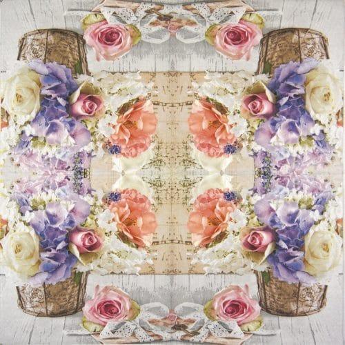 Paper Napkin - Romantic bouquet