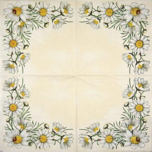 Paper Napkin - Bunch of Marguerites