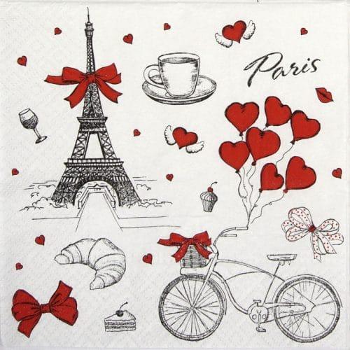 Paper Napkin - I love France
