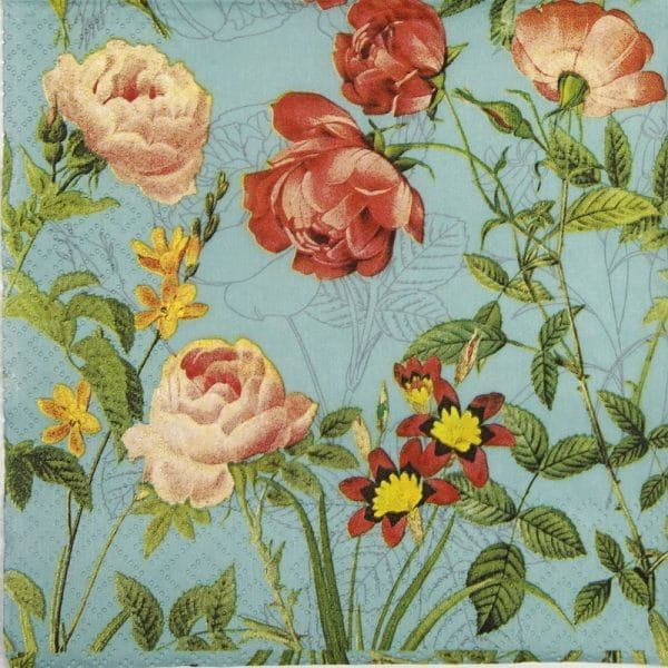 Lunch Napkins (20) - Mademoiselle turquoise