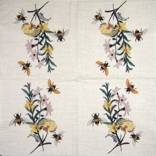Lunch Napkins (20) - Floral Bees