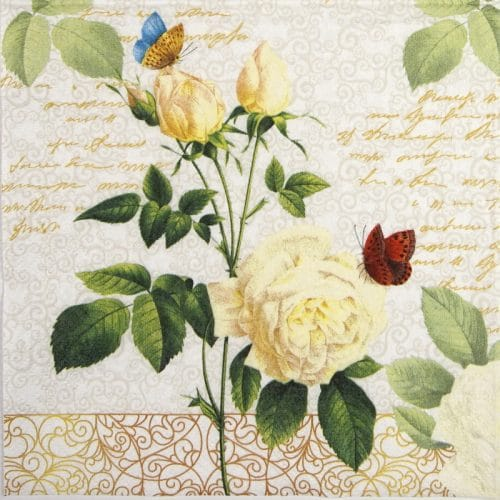 Paper Napkin - Rose Lace