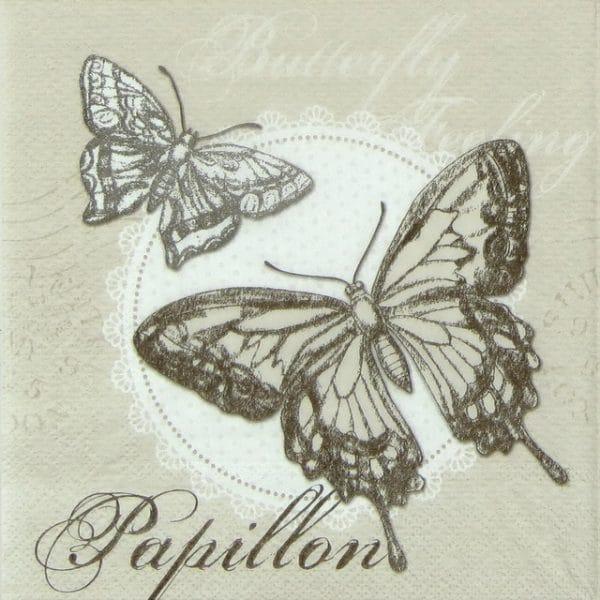 Paper Napkin - Butterfly Feeling sand