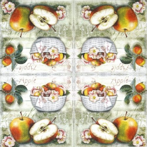 Paper Napkin - Apple Basket