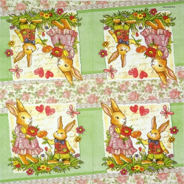 Paper Napkin - Dear Mum green
