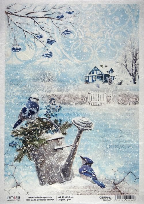 Rice Paper - Blue jay