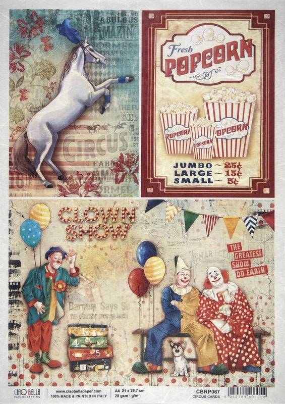 Rice Paper - Circus cards