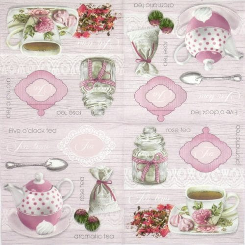 Paper Napkin - Pink Rose Tea