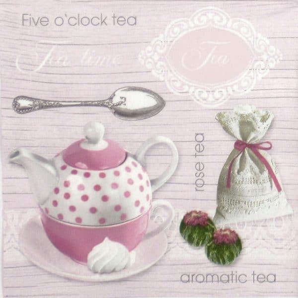 Paper Napkin - Pink Rose Tea