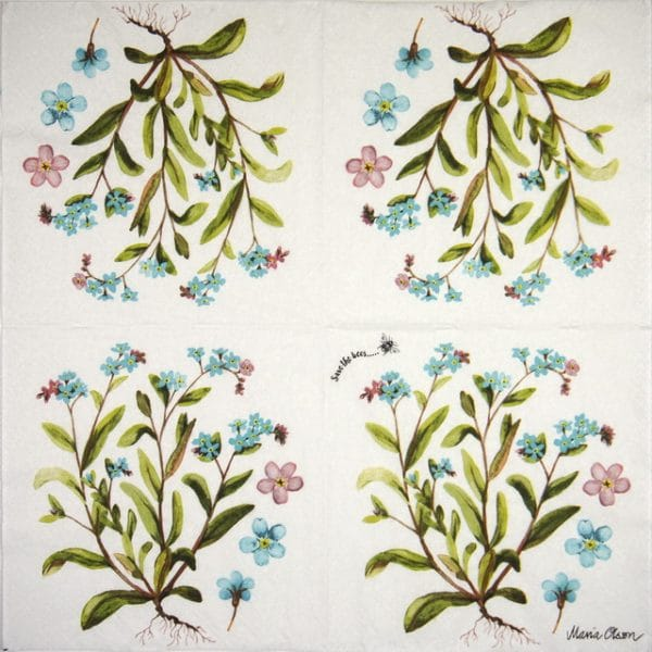 Lunch Napkins (20) -  Forget me not