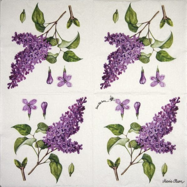 Lunch Napkins (20) - Lilac