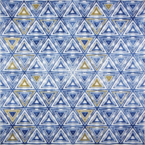 Paper Napkin - Triangles blue