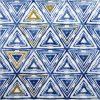 Paper Napkin - Triangles blue