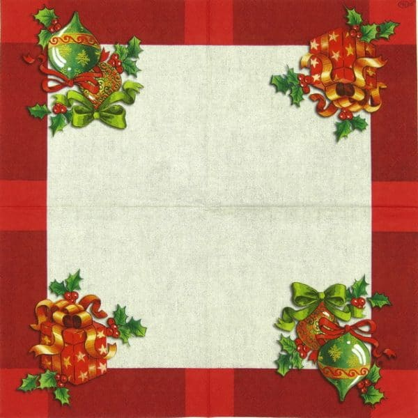 Paper Napkin - Ornaments on Linen