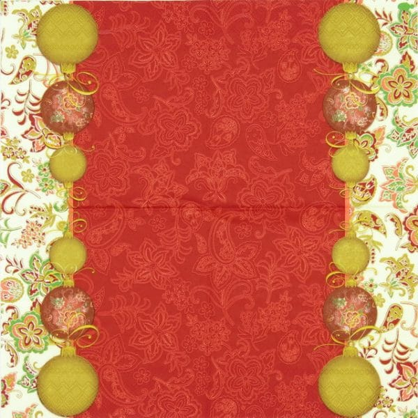 Lunch Napkins (20) - Facette Noel red