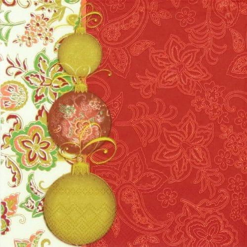 Lunch Napkins (20) - Facette Noel red