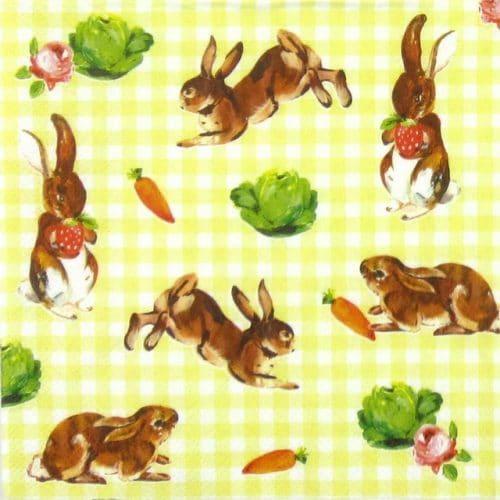 Paper Napkin - Little Bunnies Yellow