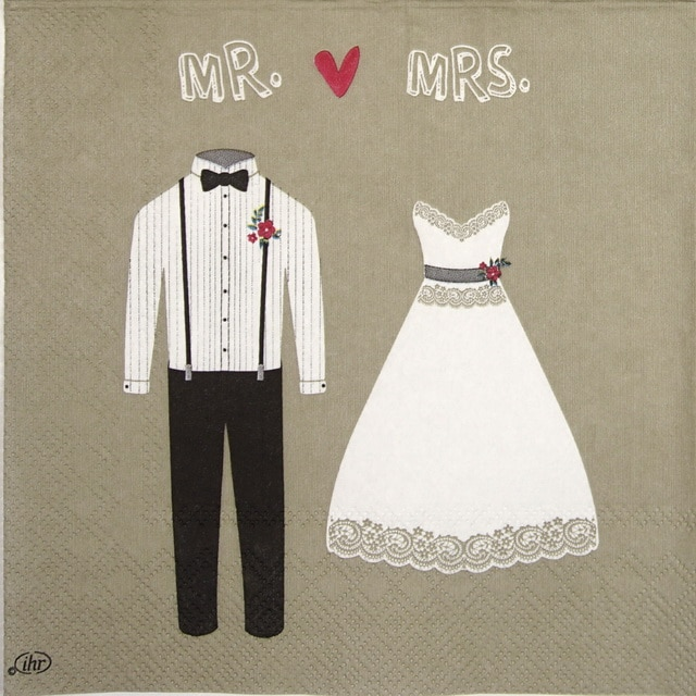 Paper Napkin - Mr. & Mrs. linen
