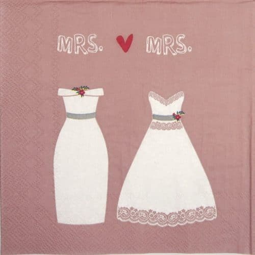Paper Napkin - Mrs. & Mrs. rose