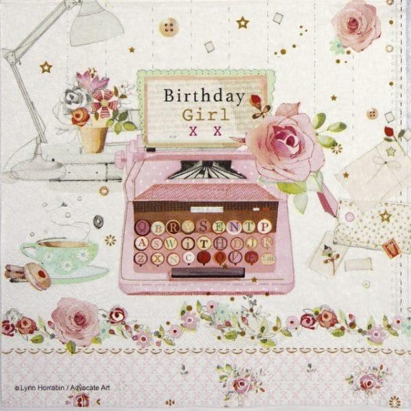 Paper Napkin - Birthday letter