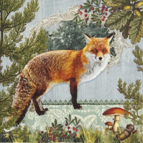 Lunch Napkins (20) - Fox Portrait