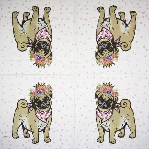 Paper Napkin - Ute Krause: Lilly