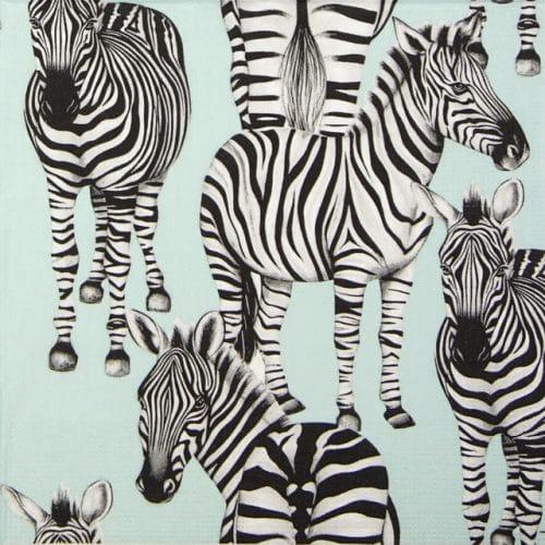Lunch Napkins (20) - Charlotte Jade: Zebras