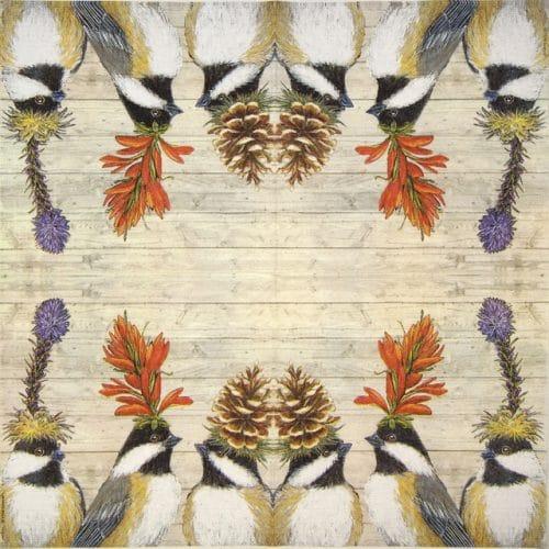 Paper Napkin - Vicki Sawyer: The Chickadee Sisters