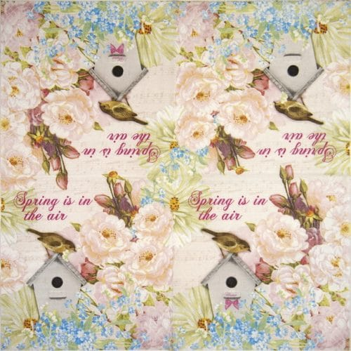 Cocktail Napkins (20) - Bird house