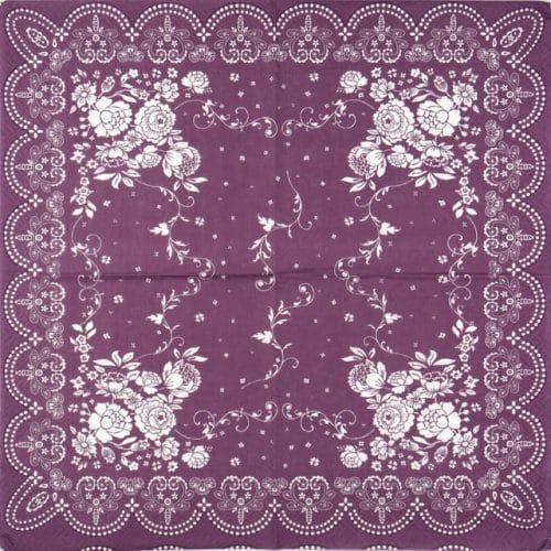 Paper Napkin - Burgundy Corner Decoration