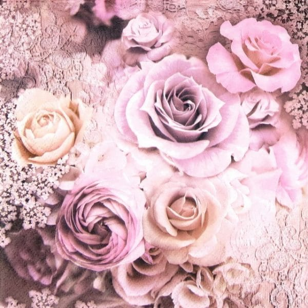 Paper Napkin - Evelien Wedding Roses