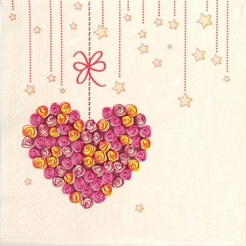 Paper Napkin - Hanging Heart