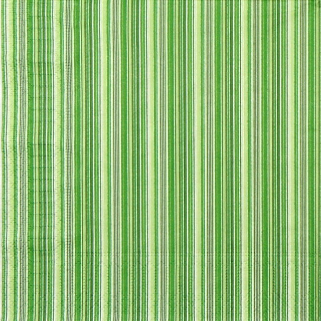 Paper Napkin - Green Striped