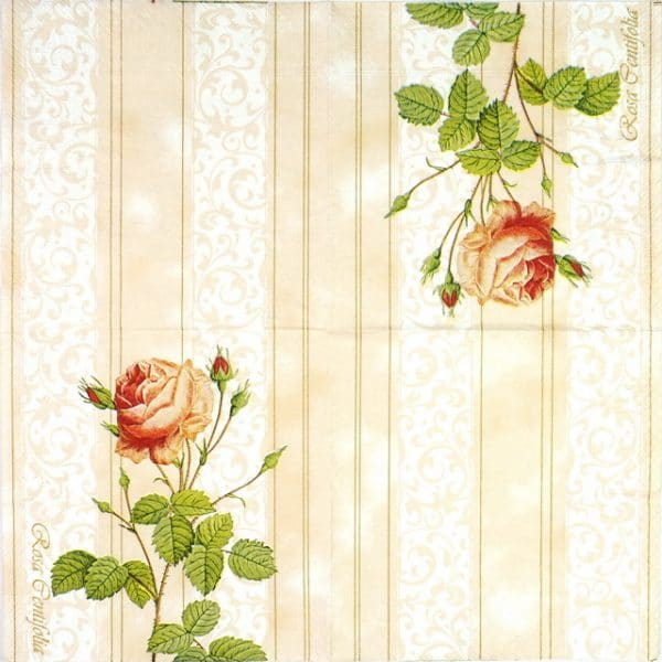 Paper Napkin - Rose Wallpaper