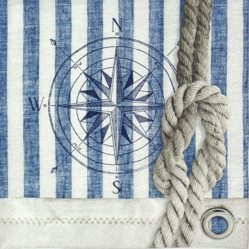 Paper Napkin - Compass & Rope