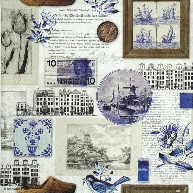 Paper Napkin - Blue Holland