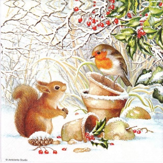 Paper Napkin - Winter Picture