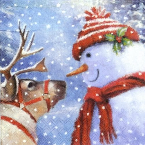 Lunch Napkins (20) - See you Snowman