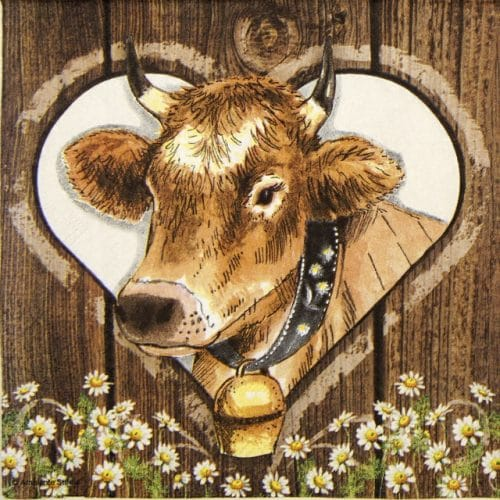 Lunch Napkins (20) - Cow
