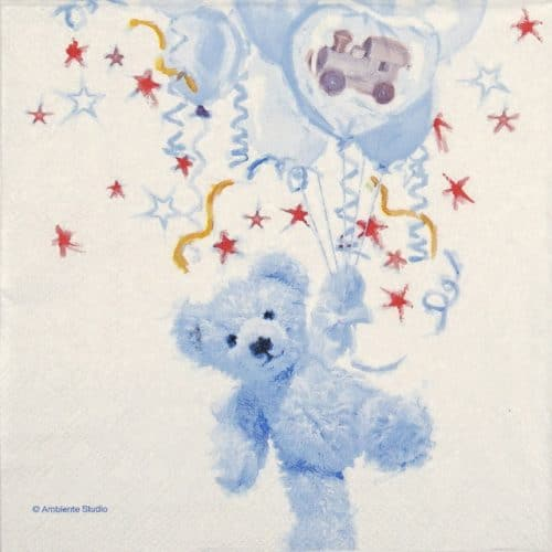 Lunch Napkins (20) - Teddy Blue