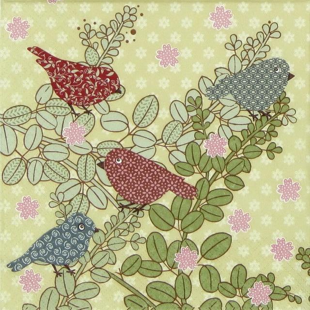 Paper Napkin - Patchwork Birds