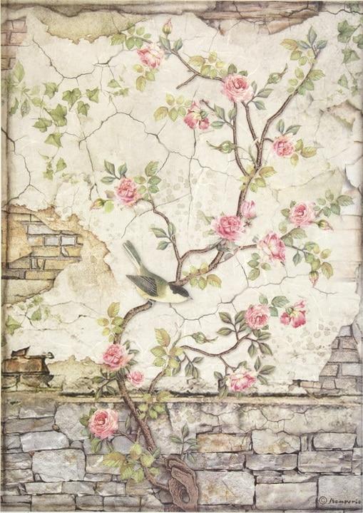 Rice Paper - Little bird on branch